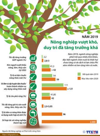 Nông nghiệp Việt Nam 2019 vượt khó, duy trì đà tăng trưởng khá